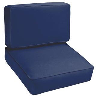 Sloane Dark Blue 2-piece Indoor/Outdoor Cushion Set
