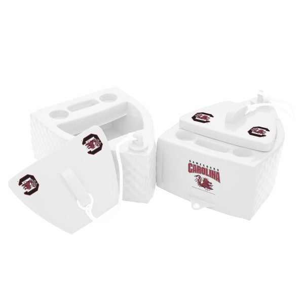 Texas Rec KOOLER FLOATING White Finish SOUTH CAROLINA Gamecocks