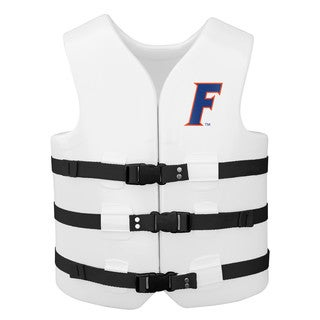 Texas Rec USCG Approved Adult Water Vest White Finish Florida Gators