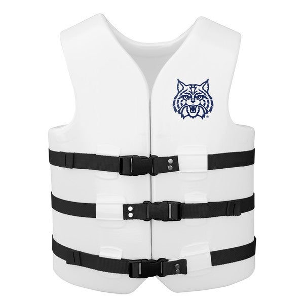 Texas Rec USCG Approved Adult Water Vest White Finish Arizona Wildcat