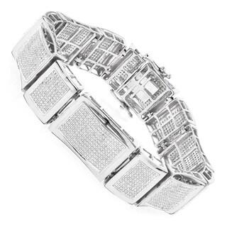Luxurman 10k Gold 6 1/2ct TDW Men's Diamond Bracelet (H-I, SI-I)