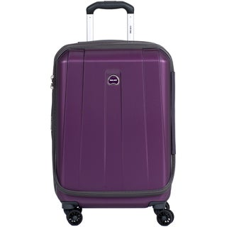 Delsey Helium Shadow 3.0 Purple 21-inch Expandable Hardside Carry On Spinner Suiter Suitcase