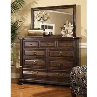 Hazelton Antique Oak Dresser and Mirror