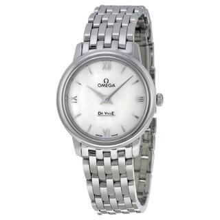 Omega Women's 42410276005001 De Ville White Mother of Pearl Watch