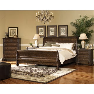 Hazelton Vintage Oak 4 Piece King Bedroom Set
