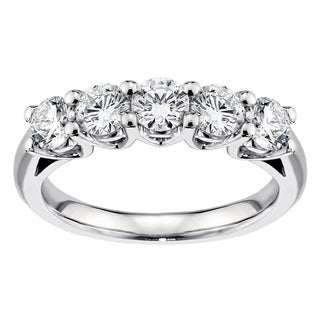 Platinum 1ct TDW Diamond Anniversary Ring (G-H, SI1-SI2)