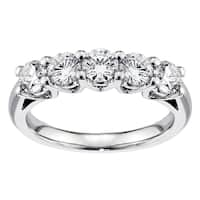 Platinum 1ct TDW Diamond Anniversary Ring