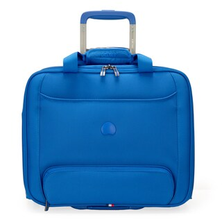 Delsey Chattilon Blue Carry On Rolling 15.6-inch Laptop Tote Bag