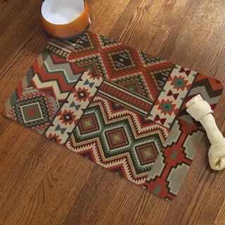 Link to Laural Home Southwestern Pattern Pet Mat Similar Items in Dog Feeders & Waterers