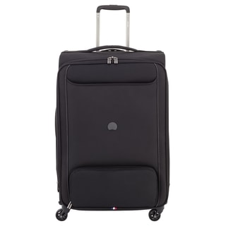 Delsey Chatillon Black 25-inch Expandable Spinner Upright Suitcase