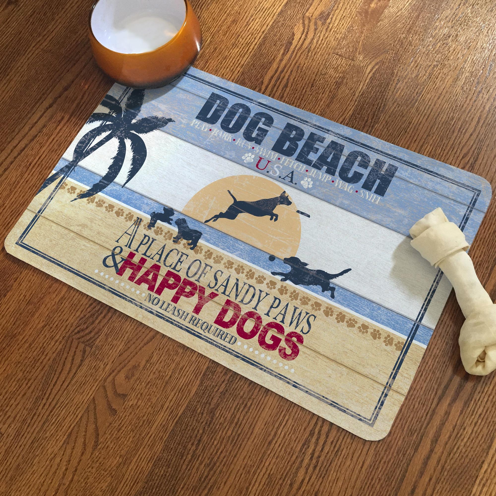 """Laural Home Sandy Dog Beach Pet Mat (15"""" x 24""""), Blue"""