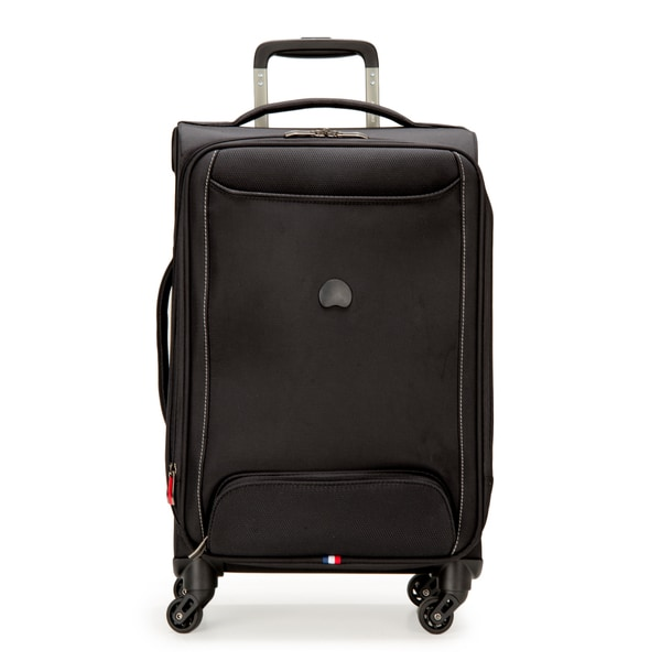 DELSEY Paris Chatillon Black 20-inch Expandable Carry-on Spinner Upright Suitcase
