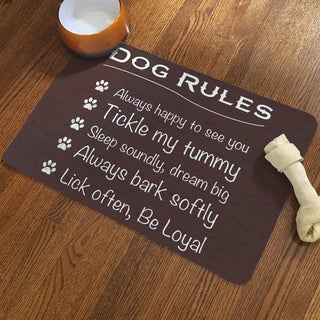 """Laural Home """"Dog Rules to Live By"""" Pet Mat"""