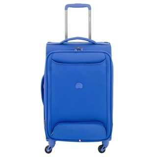 Delsey Chatillon Blue 20-inch Expandable Carry-on Spinner Suitcase