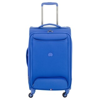 DELSEY Paris Chatillon Blue 20-inch Expandable Carry-on Spinner Suitcase