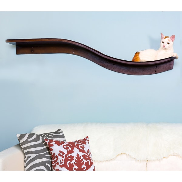 shop lotus branch cat shelf from the refined feline free shipping rh overstock com cat wall shelves for sale