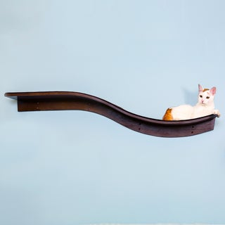 The Refined Feline Lotus Branch Wood Cat Shelf
