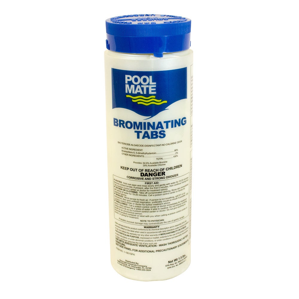 Pool (Blue) Mate Brominating Tabs for Spas and Hot Tubs, ...