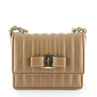 Salvatore Ferragamo 21F202 Mini Vara Wave Flap Bag