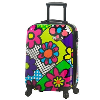 Mia Toro Italy Flower Largo 20-inch Fashion Carry On Hardside Spinner Suitcase