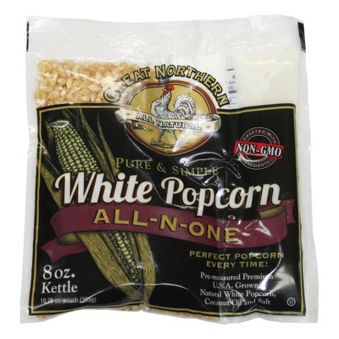 Great Northern Popcorn 8-ounce White Popcorn (24 Pack)