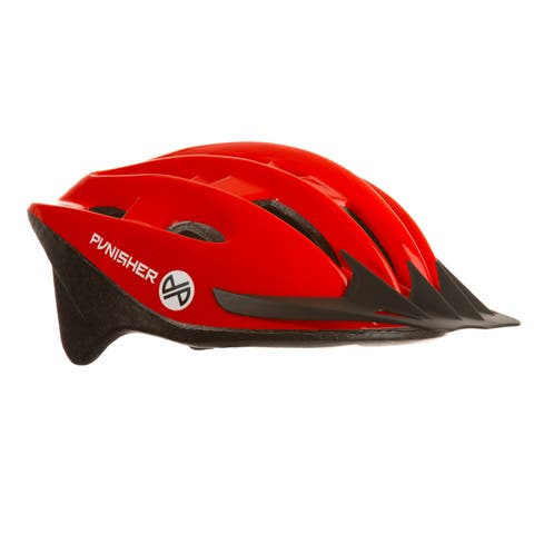 Punisher 18-Vent Adult Cycling Helmet, Red, Ages 12+
