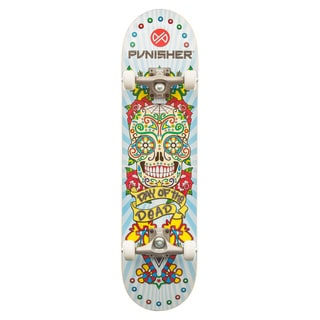 "Day of the Dead 31.5"""" Dual-Kick with Concave Complete Skateboard"