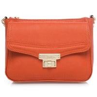 Calvin Klein Key Item Burnt Orange Saffiano Crossbody Handbag