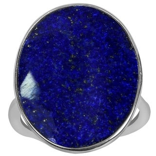 Orchid Jewelry 925 Sterling Silver Ring 9.50ct TGW Genuine Lapis