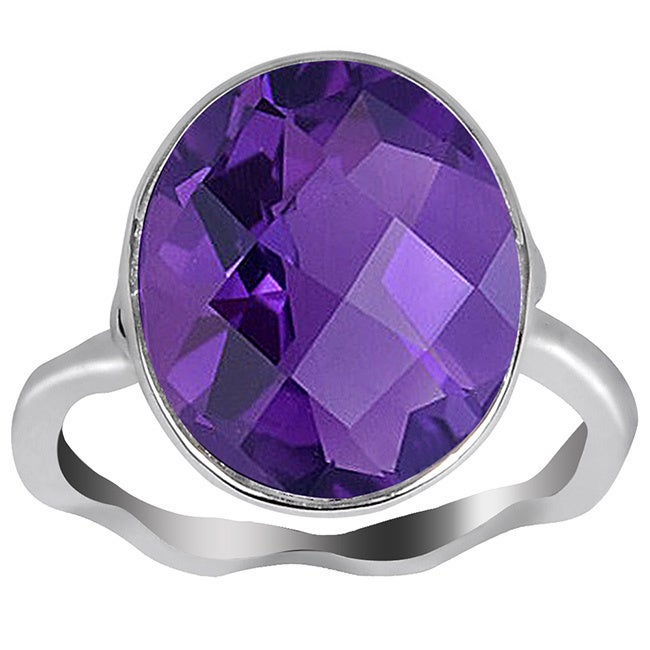 Orchid Jewelry 5 4/5 CTW Natural Amethyst Birthstone 925 ...
