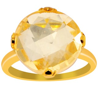 Orchid Jewelry 925 Sterling Silver Ring 8.05ct TGW Genuine  Citrine