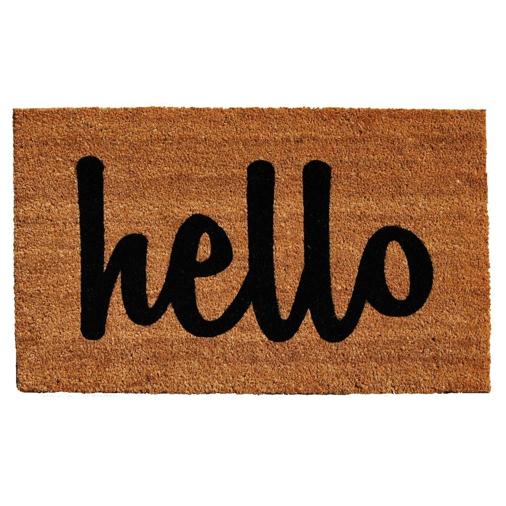buy door mats online at overstock our best decorative accessoriesmomentum mats cursive hello doormat (2\u0027 x