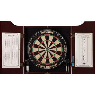 Viper Hudson Pine Dartboard Cabinet & Sisal Dartboard & Steel Tip Darts All-In-One Dart Center / Mod