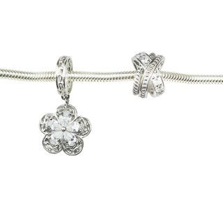 Michael Valitutti Flower and Criss Cross Charm Set 6.75-inch Bracelet|https://ak1.ostkcdn.com/images/products/11717692/P18638567.jpg?impolicy=medium