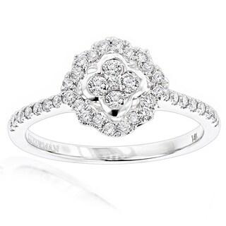 Luxurman 14k Gold 1/2ct TDW Diamond Promise Engagement Ring
