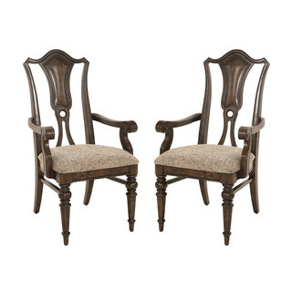 Hazelton Vintage Oak Arm Chair (Set of 2)