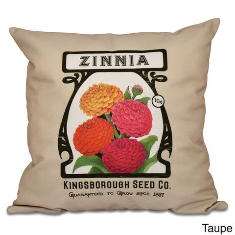 Zinnia Floral 18 x 18-inch Outdoor Pillow