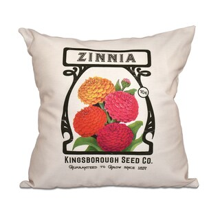 Zinnia Floral 18 x 18-inch Outdoor Pillow