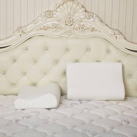 Dasein Premium Contour Memory Foam Pillow with Cover (Single) - White
