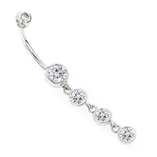 Luxurman 14k Gold 1 5/8ct TDW Diamonds Dangling Belly Button Ring (H-I, SI1-SI2)|https://ak1.ostkcdn.com/images/products/11717772/P18638604.jpg?impolicy=medium