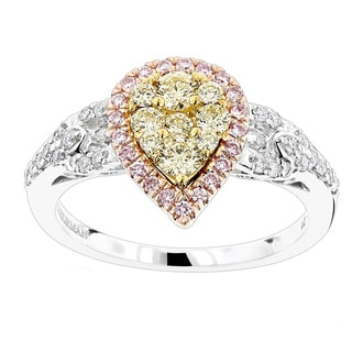Luxurman 14k Gold 7/8ct TDW Diamond Engagement Ring