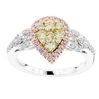 Luxurman 14k Gold 7/8ct TDW Diamond Engagement Ring
