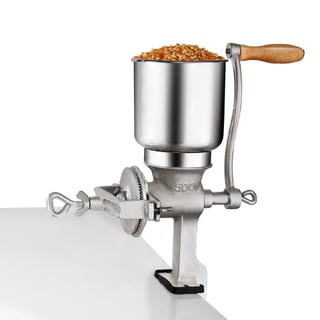 Premium Cast Iron Corn Grinder For Wheat & Grains or Use As A Nut Mill