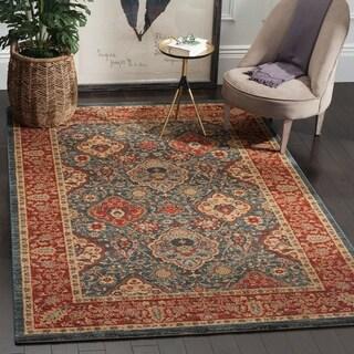 safavieh mahal traditional grandeur navy red rug 5u0027 1 x 7u0027 7