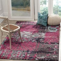 Safavieh Monaco Modern Abstract Pink/ Multicolored Distressed Rug - 3' x 5'