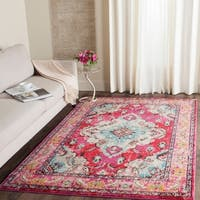 Safavieh Monaco Bohemian Medallion Pink/ Multicolored Distressed Rug - 4' x 5'7