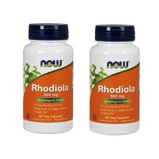 Now Foods 500 mg Rhodiola (60 Veggie Caps)