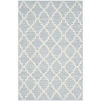 Safavieh Hand-Woven Montauk Light Blue/ Ivory Cotton Rug (3' x 5')