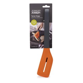 Joseph Joseph Orange Turner Ergonomic Silicone Tongs