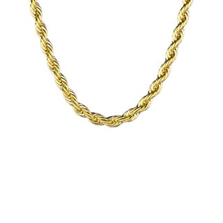 Stainless Steel Goldtone Rope Chain